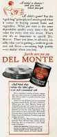 0409712 © Granger - Historical Picture ArchiveAD: DEL MONTE, 1927.   American advertisement for Del Monte canned fruits and vegetables, 1927.