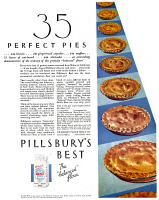 0409741 © Granger - Historical Picture ArchiveAD: PILLSBURY, 1932.   American advertisement for Pillsbury flour, 1932.