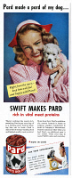 0409874 © Granger - Historical Picture ArchiveAD: DOG FOOD, 1947.   American advertisement for Pard, a product of Swift's Dog Food, 1947.