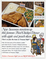 0432364 © Granger - Historical Picture ArchiveAD: SWANSON, 1967.   American advertisement for Swanson frozen dinners. Photograph, 1967.
