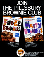 0433365 © Granger - Historical Picture ArchiveAD: PILLSBURY, 1966.   American advertisement for Pillsbury brownie mix. Photograph, 1966.