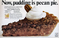 0433383 © Granger - Historical Picture ArchiveAD: JELL-O, 1968.   American advertisement for Jell-O Pudding Pie Filling. Photograph, 1968.