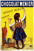 0527844 © Granger - Historical Picture ArchivePOSTER: CHOCOLATE, 1893.   Poster advertising Menier Chocolate. Lithograph after Firmin Bouisset, 1893.