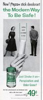 0410041 © Granger - Historical Picture ArchiveAD: DEODORANT, 1954.   American advertisement for Fresh Stick Deodorant, 1954.