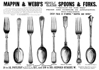 0067606 © Granger - Historical Picture ArchiveSILVERWARE AD, 1891.   Advertisement for spoons and forks from an English newspaper of 1891.