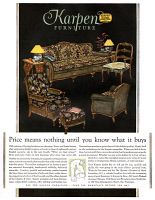 0410132 © Granger - Historical Picture ArchiveAD: FURNITURE, 1927.   American advertisement for Karpen Furniture, 1927.