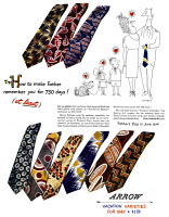 0409878 © Granger - Historical Picture ArchiveAD: ARROW TIES, 1947.   American advertisement for Arrow Ties in 'Vacation Varieties,' 1947.