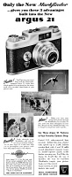 0409884 © Granger - Historical Picture ArchiveAD: CAMERA, 1947.   American advertisement for the Argus 21 camera, 1947.