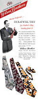 0409912 © Granger - Historical Picture ArchiveAD: TIES, 1947.   American advertisement for the Wilson Brother's Duratwill Ties, 1947.