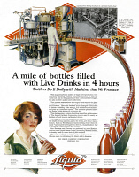 0410119 © Granger - Historical Picture ArchiveAD: BOTTLING, 1927.   American advertisement for The Liquid Carbonic Corporation