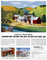 0410154 © Granger - Historical Picture ArchiveAD: ALCOA ALUMINUM, 1954.   American advertisement for Alcoa Aluminum, 1954.