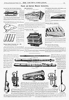 0266601 © Granger - Historical Picture ArchiveMUSICAL INSTRUMENTS, 1890.   American magazine advertisements for various musical instruments, 1890.