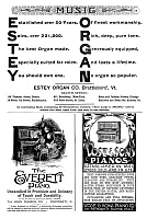 0323699 © Granger - Historical Picture ArchiveADS: PIANOS & ORGANS, 1890.   American magazine advertisements for pianos and organs, 1890.