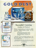 0409684 © Granger - Historical Picture ArchiveAD: GOLD DUST, 1922.   American advertisement for Faribank's Gold Dust Washing Powder, 1922.