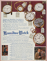 0010870 © Granger - Historical Picture ArchiveHAMILTON WATCH AD, 1913.   Hamilton Watch Company advertisement from an American magazine, 1913.