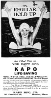 0409819 © Granger - Historical Picture ArchiveAD: KAPO LIFE-SAVING, 1919.   American advertisement for Kapo Life-Saving devices, 1919.