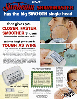 0410167 © Granger - Historical Picture ArchiveAD: SUNBEAM, 1954.   American advertisement for the Sunbeam Shavemaster electric razor, 1954.