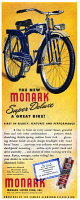 0409935 © Granger - Historical Picture ArchiveAD: BICYCLE, 1947.   American advertisement for the Monark Super Deluxe bicycle, 1947.