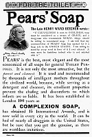 0075333 © Granger - Historical Picture ArchivePEARS' SOAP AD, 1889.   American magazine advertisement, 1889.
