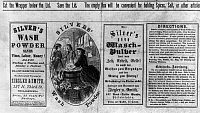 0128795 © Granger - Historical Picture ArchiveSOAP ADVERTISEMENT, c1866.   Advertisement for Silver's Wash Powder, c1866.