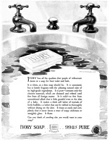 0409827 © Granger - Historical Picture ArchiveAD: IVORY SOAP, 1919.   American advertisement for Ivory Soap, 1919.