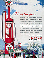 0118791 © Granger - Historical Picture ArchiveTEXACO ADVERTISEMENT, 1929.   American magazine advertisement for Texaco gasoline, 1929.