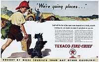 0118799 © Granger - Historical Picture ArchiveTEXACO ADVERTISEMENT, 1934.   American advertisement for Texaco gasoline and motor oil, 1934.