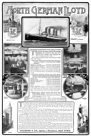0371296 © Granger - Historical Picture ArchiveAD: NORTH GERMAN LLOYD.   American magazine advertisement for the North German Lloyd Steamship Company, 1901.