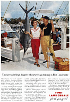 0410009 © Granger - Historical Picture ArchiveAD: FORT LAUDERDALE, 1961.   American advertisement for tourism in Fort Lauderdale, 1961.