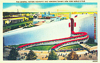 0066003 © Granger - Historical Picture ArchiveNY: 1939 WORLD'S FAIR.   A postcard showing the General Motors exhibit at the 1939 New York World's Fair.