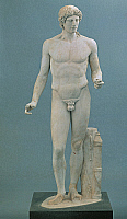 0269417 © Granger - Historical Picture ArchiveARCHAEOLOGY.   Greek civilization, 5th century b.C. Kassel Apollo statue. Roman copy. Full Credit: DEA PICTURE LIBRARY / Granger, NYC -- All rights reserved.