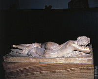 0269774 © Granger - Historical Picture ArchiveARCHAEOLOGY.   Greek civilization, 2nd century b.C. Marble statue of Hermaphrodite sleeping. Roman copy of a Hellenistic original. Full Credit: DEA / V. PIROZZI / Granger, NYC -- All Rights Reserved.