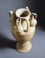 0269862 © Granger - Historical Picture ArchiveARCHAEOLOGY.   Clay amphora from Vulci (Italy). Etruscan Civilization, 9th-1st Century BC. Full Credit: DEA / G. NIMATALLAH / Granger, NYC -- All rights reserved.