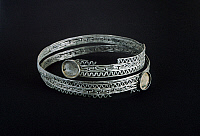 0269932 © Granger - Historical Picture ArchiveARCHAEOLOGY.   Filigree bracelet, from Campi Bisenzio (Tuscany). Etruscan civilization, 8th Century BC. Full Credit: DEA / G. NIMATALLAH / Granger, NYC -- All rights reserved.