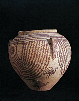 0271019 © Granger - Historical Picture ArchiveARCHAEOLOGY.   Egyptian civilization, Predynastic Period, 4th millenium b.C. Naqada civilization. Decorated vase, Gerzeen period. Full Credit: DEA / G. DAGLI ORTI / Granger, NYC -- All Rights Reserved.