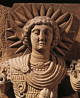 0271202 © Granger - Historical Picture ArchiveARCHAEOLOGY.   Relief depicting the Moon God, from Palmyra, Syria. Roman Civilisation, 1st Century. Full Credit: DEA / G. DAGLI ORTI / Granger, NYC -- All rights reserved.