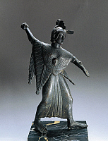 0271499 © Granger - Historical Picture ArchiveARCHAEOLOGY.   Etruscan civilization, 5th century b.C. Bronze statuette portraying a fighting Minerva. Full Credit: DEA / A. DE GREGORIO / Granger, NYC -- All rights reserved.