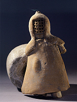 0274508 © Granger - Historical Picture ArchiveARCHAEOLOGY.   Votive terracotta statuette depicting a gladiator, from Altino, Lazio. Roman Civilisation, 1st Century. Full Credit: DEA / A. DAGLI ORTI / Granger, NYC -- All rights