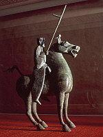 0276332 © Granger - Historical Picture ArchiveARCHAEOLOGY.   China - 2nd century. Bronze horseman. Full Credit: DEA / E. LESSING / Granger, NYC -- All rights reserved