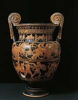 0276346 © Granger - Historical Picture ArchiveARCHAEOLOGY.   Italy, Marche, Numana, Sirolo, Volute krater, painted by the painter of the Niobides 5th century B.C., Italy, Ancona, Museo Archeologico Nazionale Delle Marche (Archaeological Museum), Greek art. Full Credit: DEA / A. DE GREGORIO / Granger, NYC -- All rights reserved.