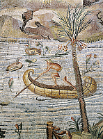 0276502 © Granger - Historical Picture ArchiveARCHAEOLOGY.   Italy, Lazio, Palestrina, Sanctuary at Praeneste, Mosaic work depicting a sailing scene along the Nile 1st century B.C., Italy, Palestrina, Museo Archeologico Prenestino (Archaeological Museum), Roman art. Full Credit: DEA / G. DAGLI ORTI / Granger, NYC -- All rights reserved.