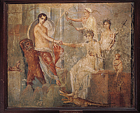 0277064 © Granger - Historical Picture ArchiveARCHAEOLOGY.   Roman civilization. Fresco depicting Io at Canopus in Egypt, consoled by Isis. From the House of the Duke d'Aumale, Pompei, Italy. Full Credit: DEA / G. DAGLI ORTI / Granger, NYC -- All rights reserved.