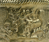 0277286 © Granger - Historical Picture ArchiveARCHAEOLOGY.   A decorative detail from a ritual object with scenes of fighting between animals. Detail. Goldsmith art. Scythian Civilization, 5th Century BC. Full Credit: DEA / A. DAGLI ORTI / Granger, NYC -- All rights reserved.