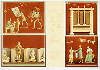 0277354 © Granger - Historical Picture ArchiveARCHAEOLOGY.   Reproduction of a mosaic, from the Houses and Monuments of Pompeii, by Fausto and Felice Niccolini, Volume I, House of the Faun, Plate III, 1854-1896. Full Credit: DEA / G. DAGLI ORTI / Granger, NYC -- All rights reserved.