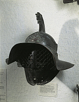 0278889 © Granger - Historical Picture ArchiveARCHAEOLOGY.   Roman civilization, 1st century A.D. Bronze gladiator's helmet. Full Credit: DEA / G. DAGLI ORTI / Granger, NYC -- All Rights Reserved.