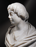 0278969 © Granger - Historical Picture ArchiveARCHAEOLOGY.   Roman civilization, 2nd century A.D. Marble bust of Faustina the Younger, 125-176 A.D., wife to Marcus Aurelius. From Lamunia. Detail. Full Credit: DEA PICTURE LIBRARY / Granger, NYC -- All rights reserved.