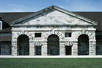 0280681 © Granger - Historical Picture ArchiveARCHAEOLOGY.   France - Franche-Comte. Industrial archaeology. Royal saltworks at Arc-et-Senans (UNESCO World Heritage List, 1982). Designer Architect Claude-Nicolas Ledoux, 1771. Full Credit: DEA PICTURE LIBRARY / Granger, NYC -- All right