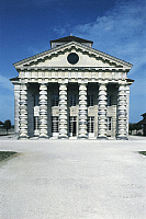 0280682 © Granger - Historical Picture ArchiveARCHAEOLOGY.   France - Franche-Comté. Royal Saltworks at Arc-et-Senans (1775-79). UNESCO World Heritage List, 1982. Designer Architect Claude-Nicolas Ledoux. Director's Pavilion. Full Credit: DEA PICTURE LIBRARY / Granger, NYC -- All right