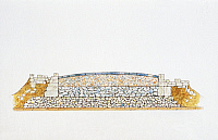 0280924 © Granger - Historical Picture ArchiveARCHAEOLOGY.   Ancient Rome. Section of road illustrates four construction layers. Color illustration. Full Credit: DEA PICTURE LIBRARY / Granger, NYC -- All rights reserved.