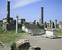 0281398 © Granger - Historical Picture ArchiveARCHAEOLOGY.   The Temple of Apollo, Pompeii (UNESCO World Heritage List, 1997), Campania. Roman Civilization, 1st Century. Full Credit: DEA / G. DAGLI ORTI / Granger, NYC -- All Rights Reserved.